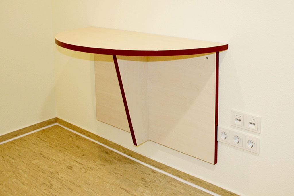 Ablage – bzw. Besuchertisch, Wandmontage