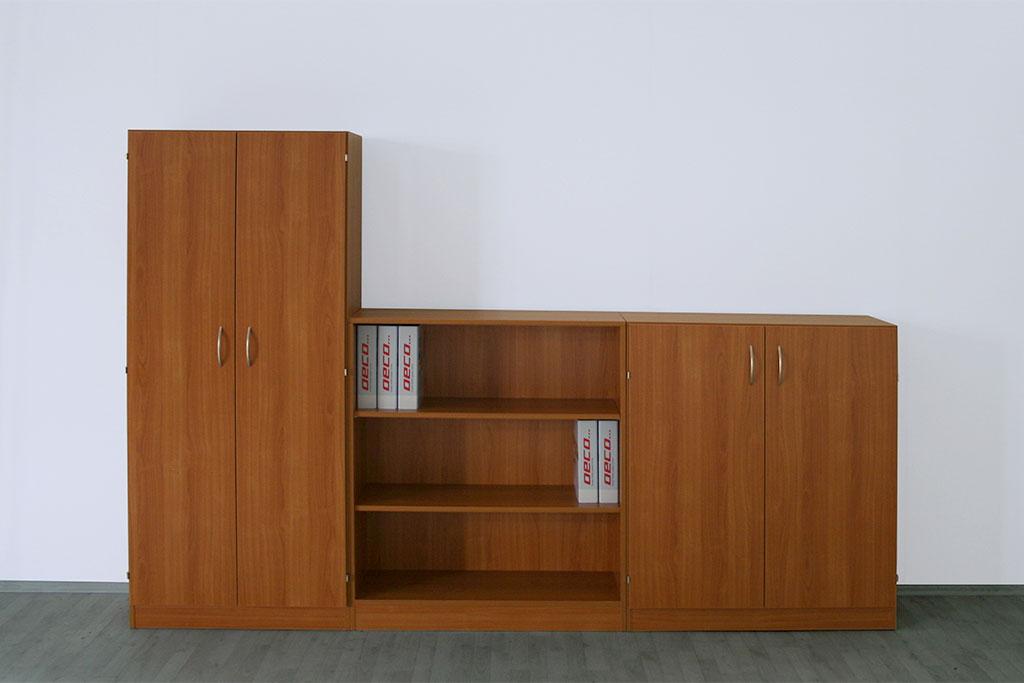 braune Schrankwand mit Türen für das Büro von Interhansa