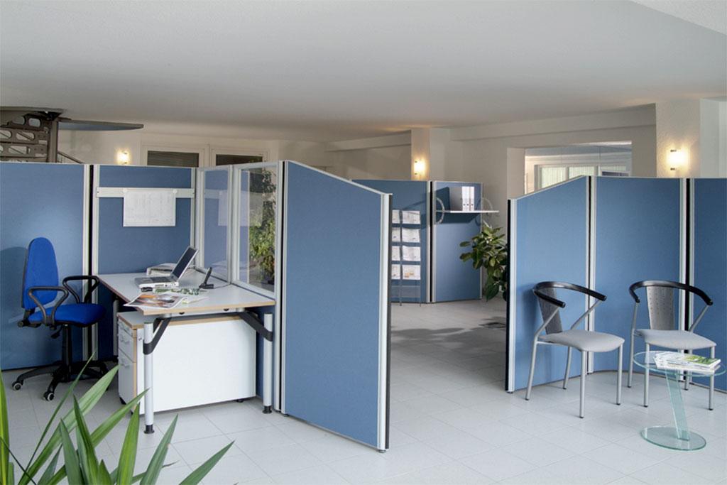 Verstellbare Trennwände für das Büro