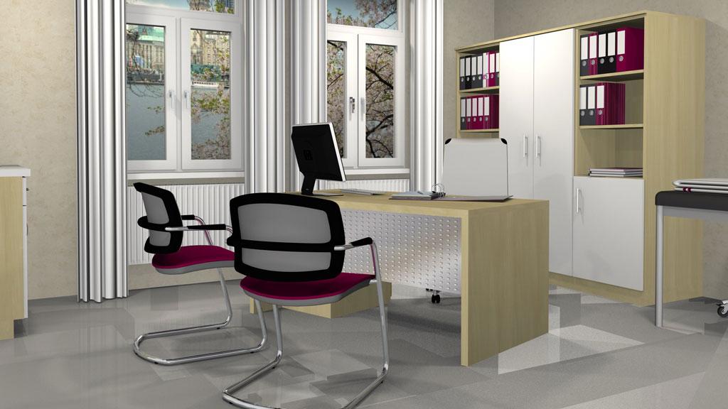 Individuell gestaltete Büroeinrichtung Interhansa Hamburg