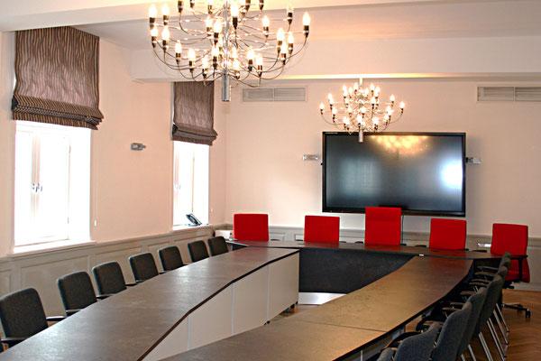 Konferenztischanlage im Bürgermeisteramt