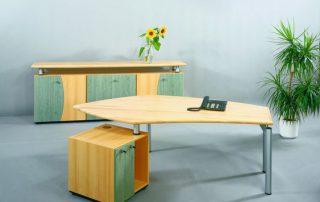 Arbeitsplatzkombination- Deckplatten in massiv Leimholz