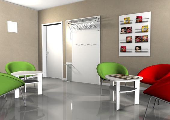 Moderner Wartebereich einer Klinik