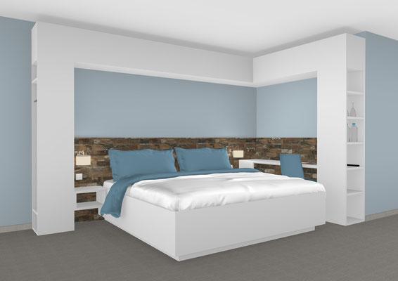 Doppelbett mit Schrankumbau von Interhansa
