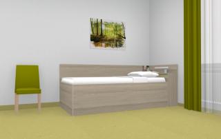 Seniorenbett mit hoher Liegefläche