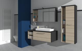 Schrankkombination im Badbereich nach Kundenwunsch