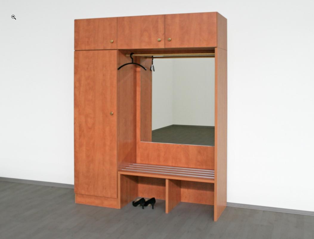 Garderobenteil mit Spiegel und Sitzbank
