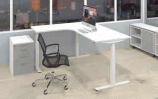 reisäulen-Sitz-Steh-Tisch, 3 Gestellfarben (Weiß, Silbermetallic, schwarz)