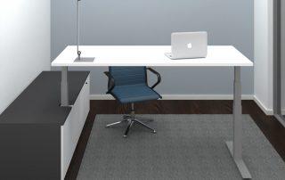 Sitz-Steh-Tisch-Kombination mit Sideboard, verschiedene Dekore lieferbar