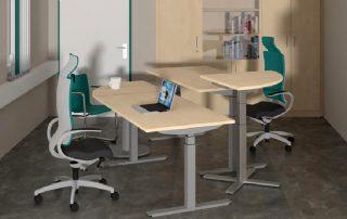 Sitzen, Stehen, Beraten… höhenverstellbarer Sitz-Steh-Arbeitsplatz